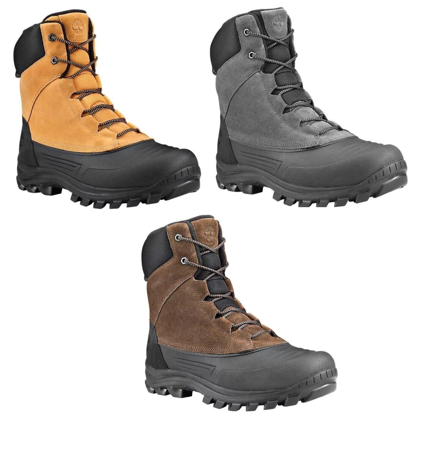 Timberland Mens Snowblades Winter Duck Snow Boots Wheat Beige Black Gray
