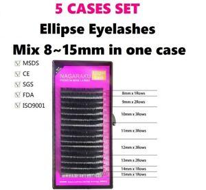 c32eb630ae1 Image is loading NAGARAKU-Ellipse-Eyelashes-Mink-Lash-Extension-5-CASES-