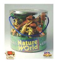 12pcs Tub of Dinosaurs Plastic Animals Set T Rex Stegosaurus New Toys Dino Gift