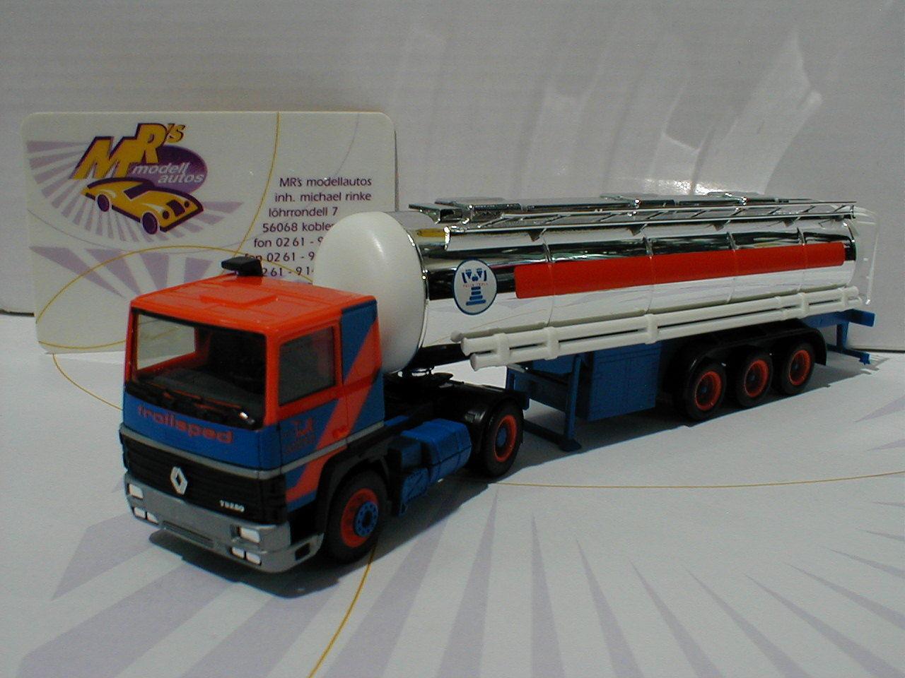 Herpa 306812     renault R 310 cromo Tank-remolcarse  troll  en azul-rojo 1 87 003752