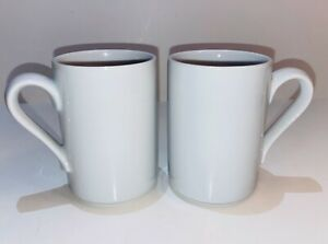 Bisserup-White-By-DANSK-Coffee-Tea-Mug-Set-of-2-Mugs-Made-In-Portugal-Dansk