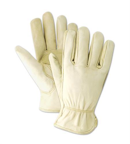 Unlined M-XXL Palm Patch Men/'s Tough Grain Cowhide Leather Drive//Work Glove