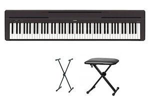 Yamaha-P-45-Digitalpiano-Bundle-VI-mit-X-Staender-und-Bank
