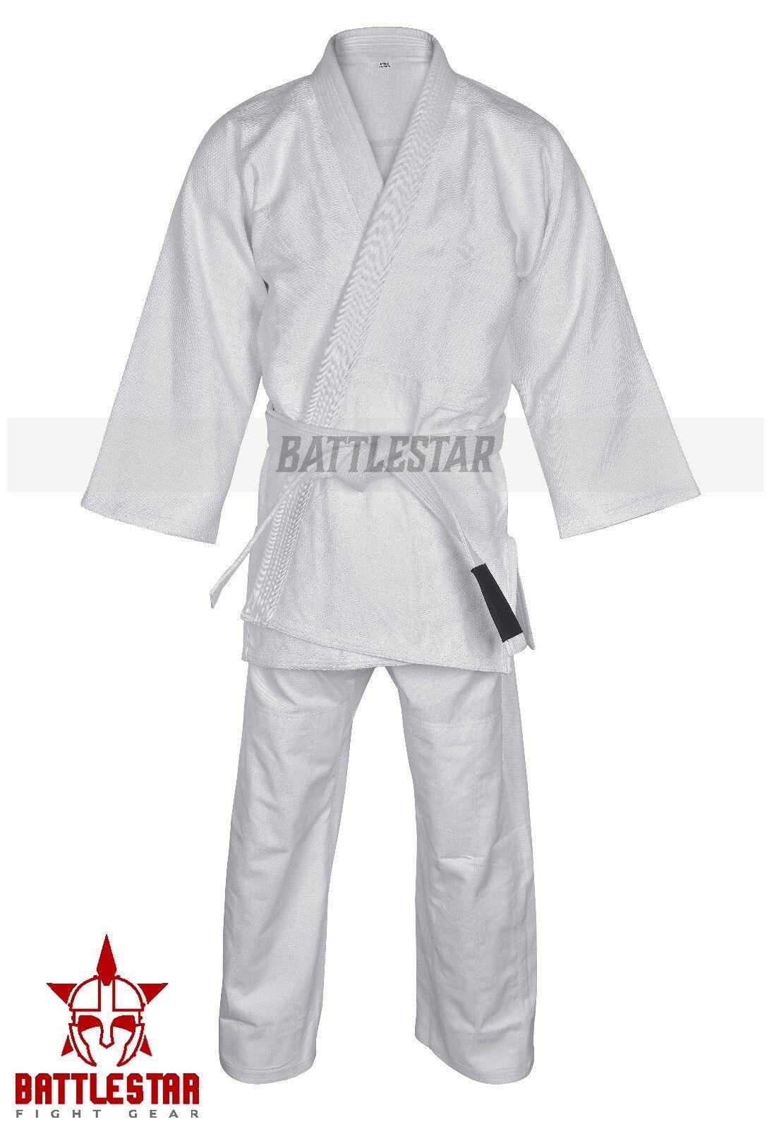 JUDO CONTEST Uniform  SUIT,Heavy duty double Weave 550 GSM WHITE ADIDAS STYLE Gi