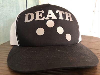 Toxico Poly Goth Rocker Motard Punk Métal Tête de mort vie /& mort Snapback Trucker Cap Casquette