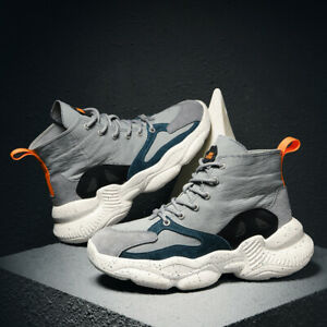 Mens-Fashion-Casual-Shoes-High-Top-Sport-Casual-Sneakers-Canvas-Athletic-Shoes