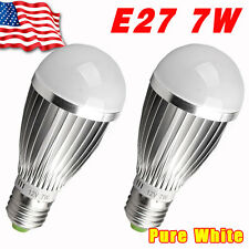 2x High Power 7W E27 E26 12V Energy Saving Bright Light LED Bulbs Lamp -Aluminum