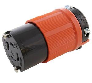 20 Amp 250 Volt NEMA L15-20P DIY Locking Male Plug Assembly by AC WORKS®
