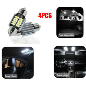 4x-6V-DC-Auto-LED-12-SMD-Soffitte-42mm-Weiss-C10W-Car-Innenraum-Beleuchtung-6000K
