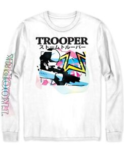 STAR-WARS-Mens-T-Shirt-White-Size-Small-S-Storm-Trooper-Graphic-Tee-30-185