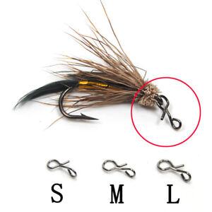 50100pc-Fliegenfischen-Snap-Quick-Change-fuer-Haken-Lockt-Outdoor-Fishing-Hot