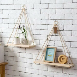 Wooden-Floating-Shelf-Wall-Mounted-Swing-Storage-Rack-Holder-Display-Home