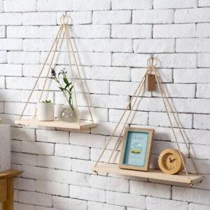 Wooden-Floating-Shelf-Wall-Mounted-Swing-Storage-Rack-Holder-Display-Home-Decor