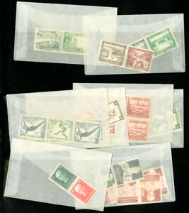 Germany-Tete-Beche-Stamp-Pairs-Selection-in-Glassines-all-Mint-NH