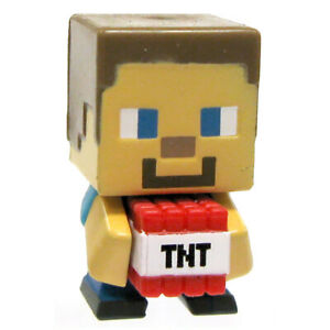 Details about Minecraft Mini-figure Steve? with TNT - Used w/o Original Box