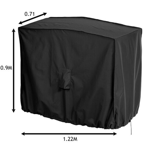 Black Waterproof Outdoor Table BBQ Bench Chair Garden Cover Small Medium Large