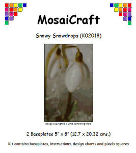 MosaiCraft-Pixel-Craft-Mosaic-Art-Kit-039-Snowy-Snowdrops-039-Pixelhobby