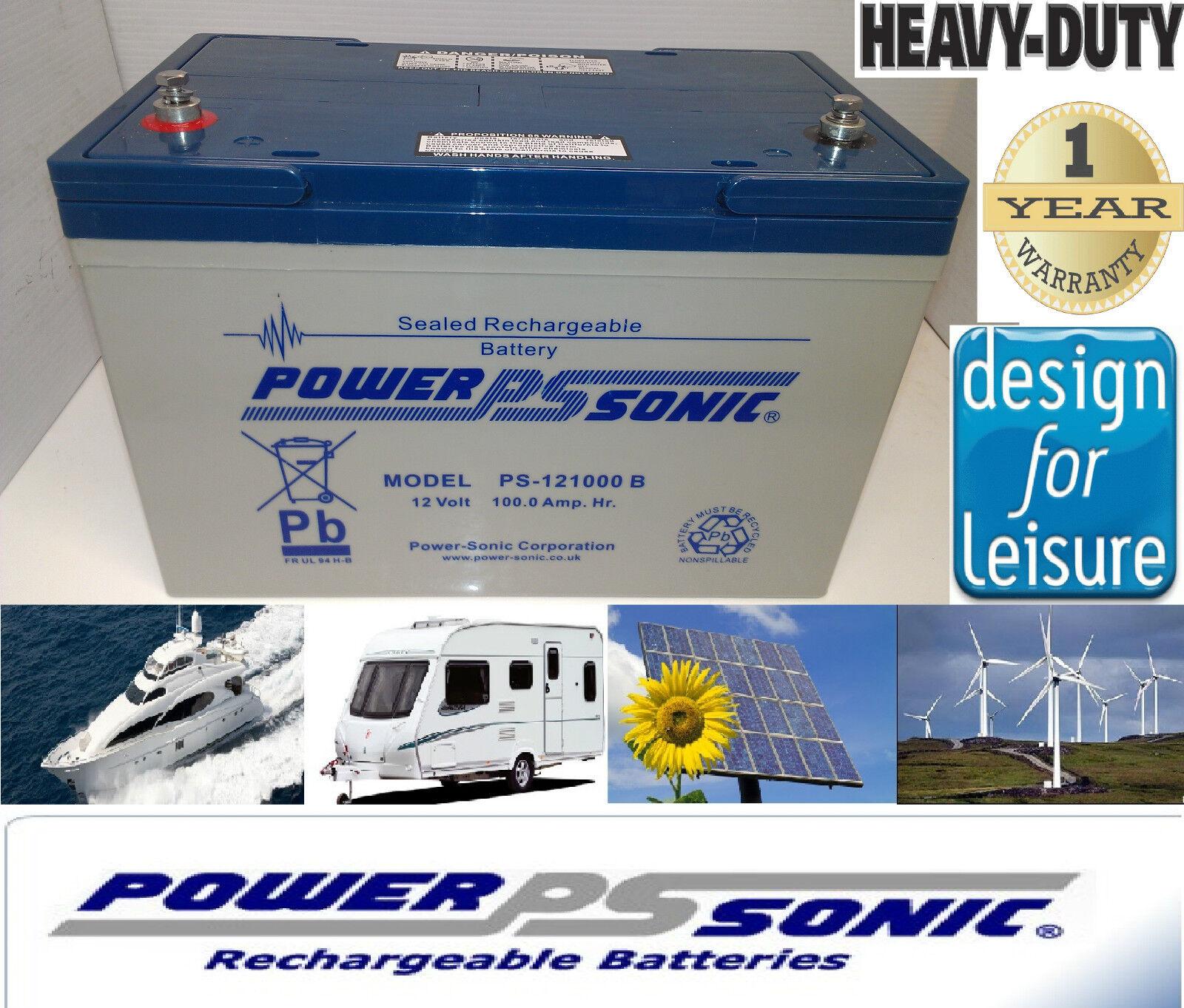 PowerSonic 12V 100AH Deep Cycle AGM GEL Battery  Electric Fence Farm  500 Cycles