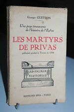 LES MARTYRS DE PRIVAS guillotinés pendant la terreur de 1794