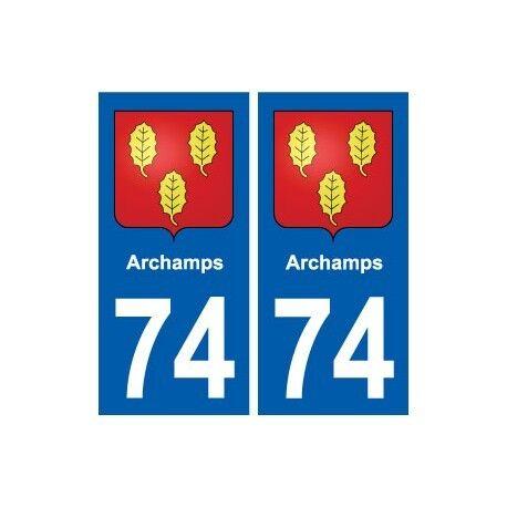 74 Archamps blason autocollant plaque stickers ville droits