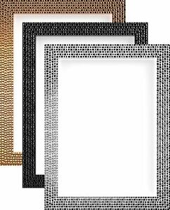 Modern-Retro-Bright-Mirror-Effect-Mosaic-Picture-Photo-Poster-frame-Multi-Sizes