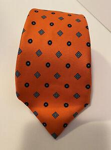 Bright Orange Mens Silk Tie Cravatta Sanseverino Napoli Made In Italy Necktie