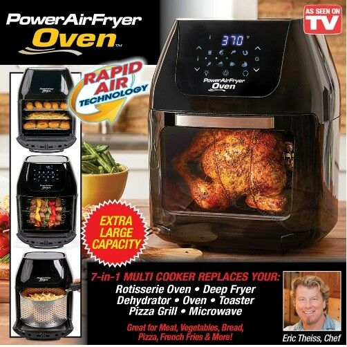 Power Air Fryer Oven Plus 6 Qt Plus Family Sized As Seen On Tv All