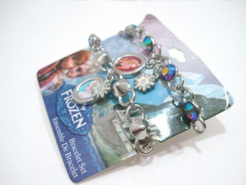 Disney Frozen BFF Charm Bracelet Set Best Friends Sisters Anna /& Elsa New