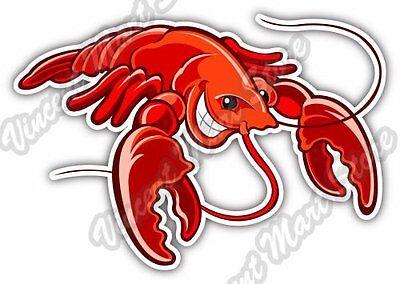 Funny Lobster Cartoon Car Bumper Sticker Decal 6/'/' x 3/'/'