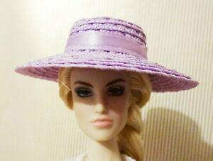Simply Stylish sky blue straw hat for FR Barbie