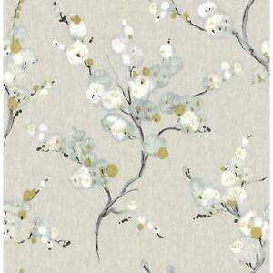 Wallpaper-Designer-White-Light-Blue-Celadon-Black-Floral-on-Gray-Faux
