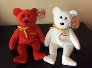 "Ty Beanie Babies ""HAMLEY""& ""WILLIAM"" the Bears /Exclusive Hamleys UK MWMT 2006"