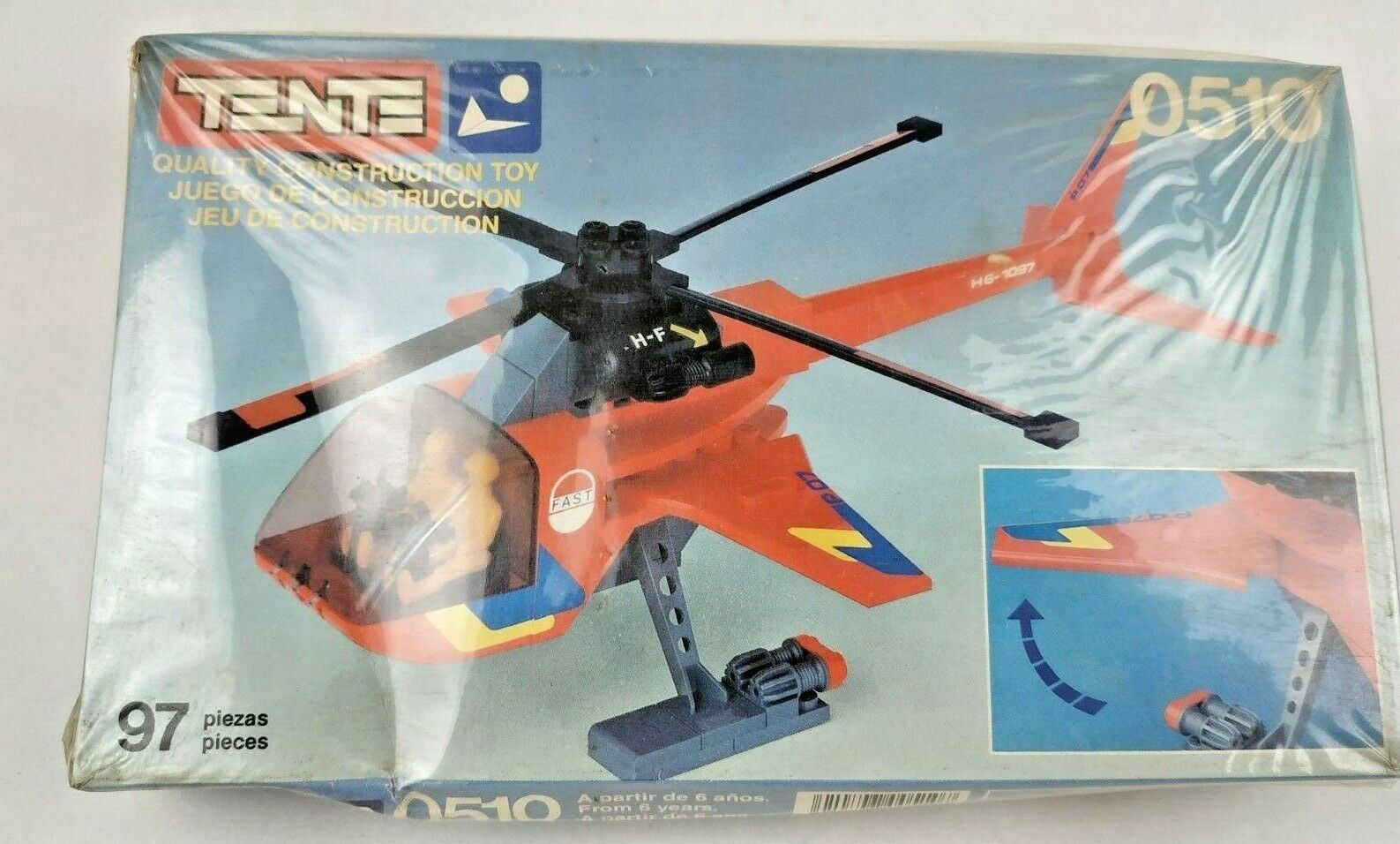 VERY RARE VINTAGE TENTE EXIN 0510 HELICOPTER HELICOPTER HELICOPTER 97 PCS NEW   a312fd