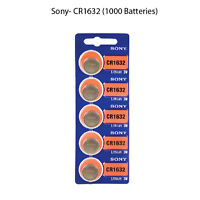 New, Sony Cr1632 3 Volt Lithium Coin Battery (1000 Batteries)