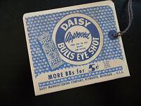 Daisy Bb Gun Hang Tag Envelope Reproduction , No. 25 Pump Gun (1950)