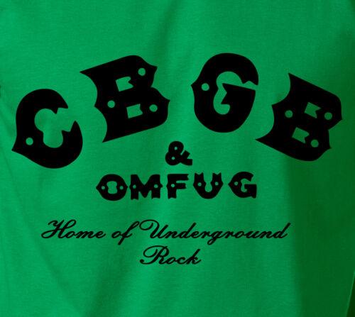 CBGB Soft Ringspun Cotton T-Shirt New York NY Punk Rock Concert Classic Logo Tee