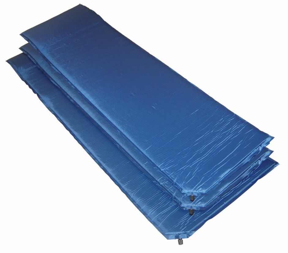 Self Inflating Camp Mattress Mat 183x60x3cm Camping Sleeping Hiking Air Airbed