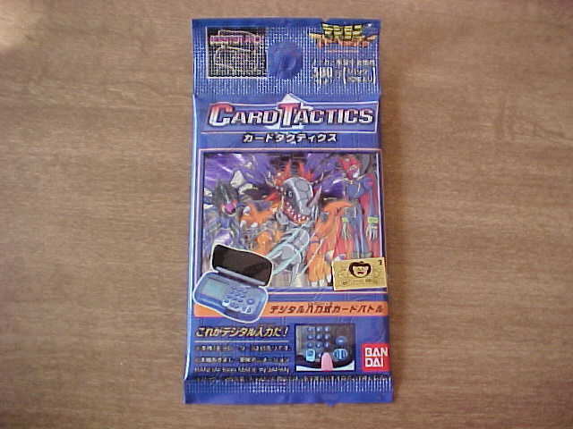 1999 Japanese Digimon Pokemon Card Tactics Booster Pack