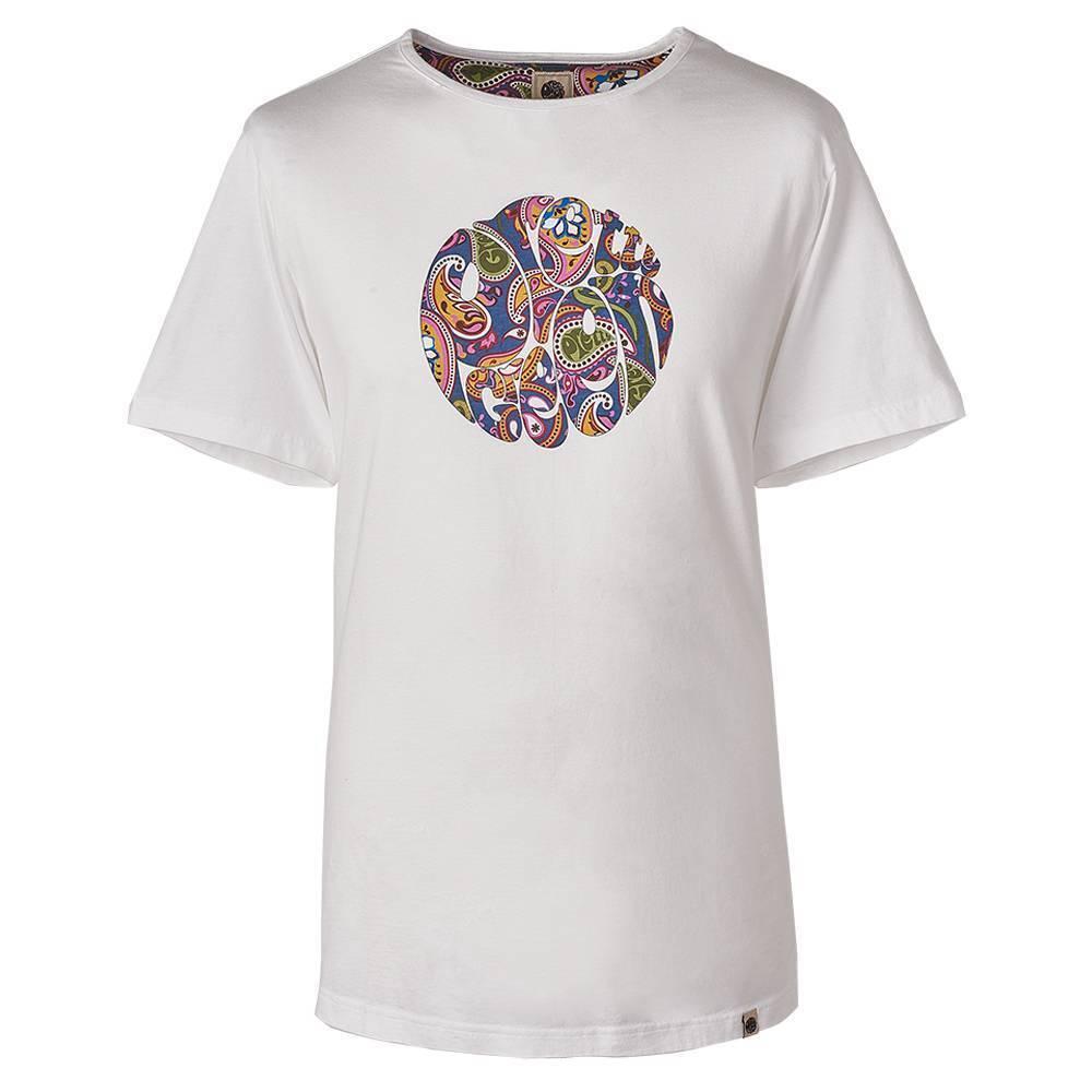 Pretty Green White Paisley Print Logo T-Shirt - C7GMU95729107