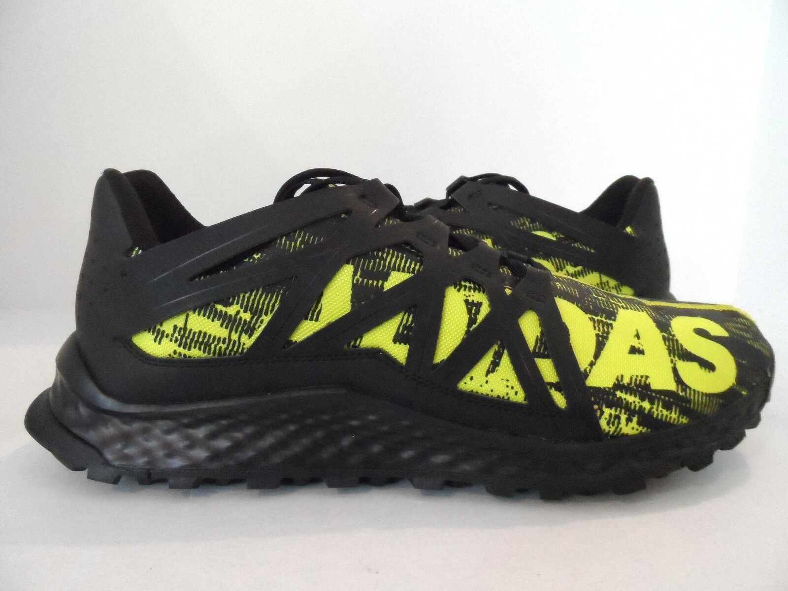 adidas männer kraft auf spur läufer schock schwarz / schwarz / schock läufer schleim größe 12,5 93d272