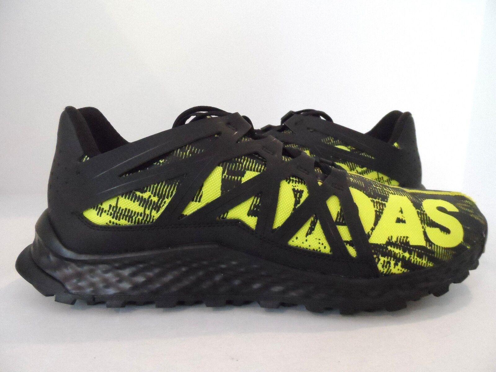 adidas Size Men's Vigor Bounce Trail Runner Black/Shock Slime/Black Size adidas 12.5 abc551