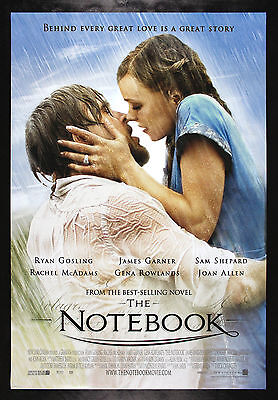THE NOTEBOOK * CineMasterpieces NO RESERVE MOVIE POSTER DS RYAN GOSLING 2006