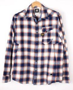 G-Star Brut Hommes Marshall Windsor Chemise Décontractée Taille 2XL (XXL) BAZ439