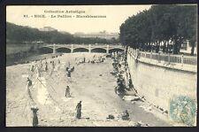 Carte Postale Ancienne 06 - NICE Le PAILLON BLANCHISSEUSES Lavandières Séchoirs