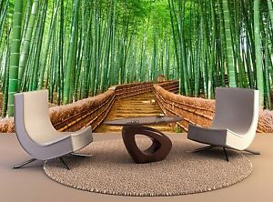 Bamboo Wall Mural Kyoto Japan Bamboo Forest Wall Paper Mural 3D