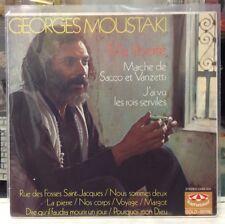 NM LP~GEORGES MOUSTAKI~Ma Liberte~[Original 1971 GERMAN IMPORT~KARUSSELL~Issue]~