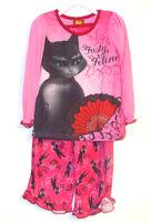 Puss In Boots Girls 2 Piece Pajama Set Sleepwear Size 4