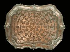 55x40 antik Massiv Kupfer orient tablett Teetisch Afghanistan copper teatray K30