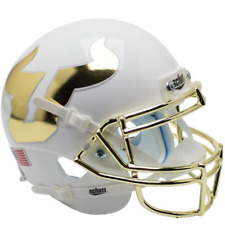 SOUTH FLORIDA BULLS NCAA Schutt Authentic MINI Football Helmet USF (GOLD CHROME)
