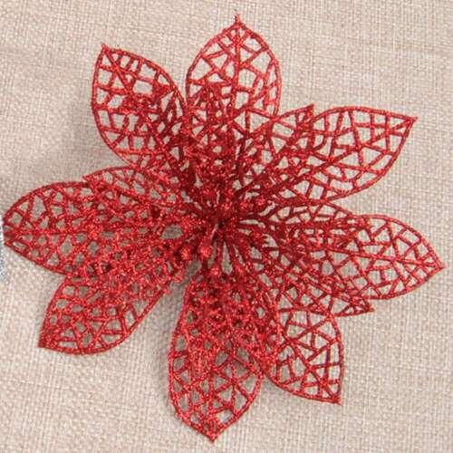 10x Funkeln Weihnachten Weihnachtsstern Künstliche Blumenclip Baum De fchd ape